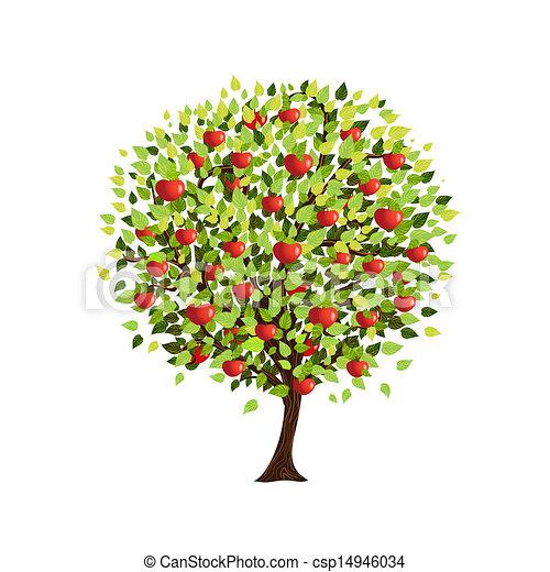 あなたの, デザイン, 木, アップル, 隔離された - csp14946034