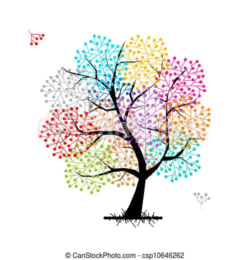 あなたの, デザイン, 木, 抽象的 - csp10646262