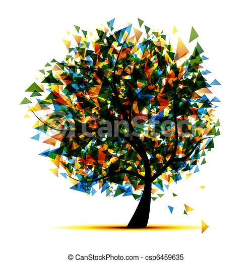 あなたの, デザイン, 木, 抽象的 - csp6459635