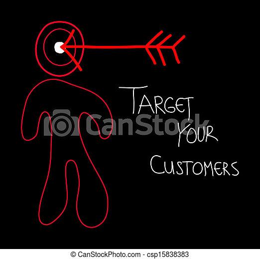 あなたの, 顧客, ターゲット - csp15838383
