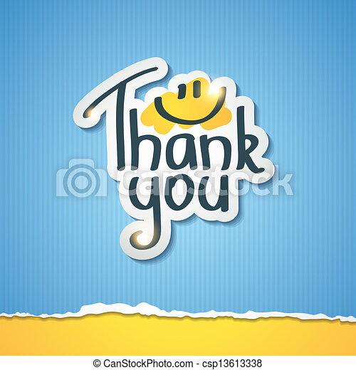 あなた, 感謝しなさい - csp13613338