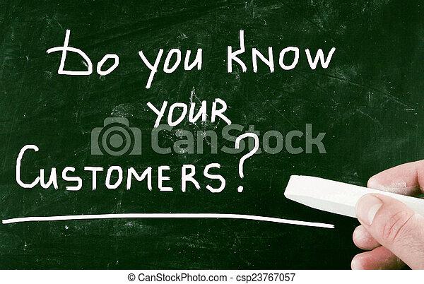 あなた, customers?, 知りなさい, あなたの - csp23767057
