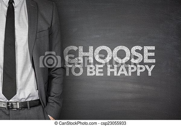 ありなさい, 幸せ, 選びなさい, 黒板 - csp23055933