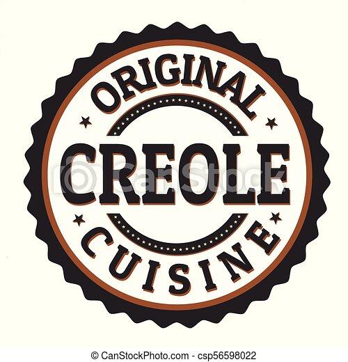 ∥あるいは∥, オリジナル, creole, 切手, ラベル, 料理 - csp56598022