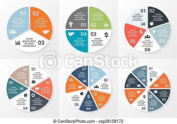 ∥あるいは∥, ビジネス, データ, オプション, chart., プレゼンテーション, 6, 図, グラフ, テンプレート, 周期, ベクトル, infographics, ラウンド, processes., 8, 5, set., 円, 部分, ステップ, 4, visualization., 3, 7, 概念 - csp28158172