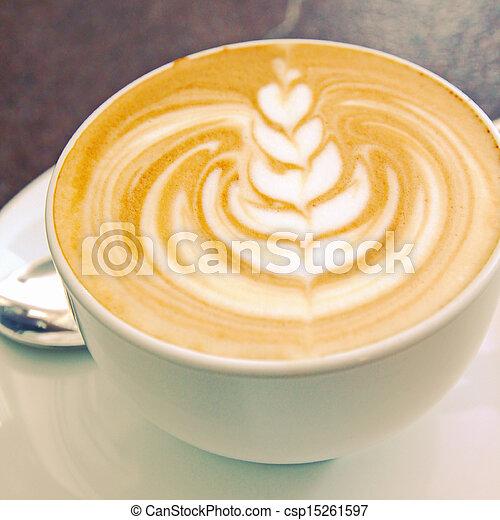 ∥あるいは∥, フィルター, レトロ, 芸術, カプチーノ, latte, コーヒー, 効果 - csp15261597