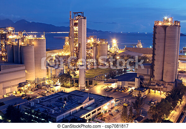 ∥あるいは∥, 産業, 重い, 建設, industry., コンクリート, 工場, 植物, セメント - csp7081817