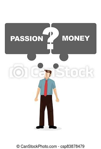 ∥あるいは∥, 続きなさい, 彼の, ∥そうするべきである∥, 描きなさい, はっきりしない, もし, 従業員, ベクトル, 彼, monay., employee., スピーチ, 考え, 泡, 仕事, 情熱, イラスト - csp83878479