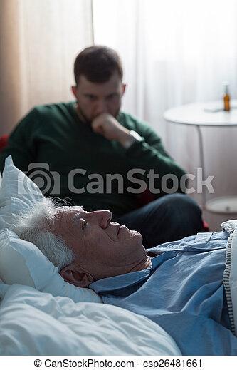 あること, 病気, 父, 病院ベッド - csp26481661
