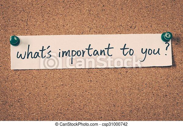 ある何が, 重要, あなた - csp31000742