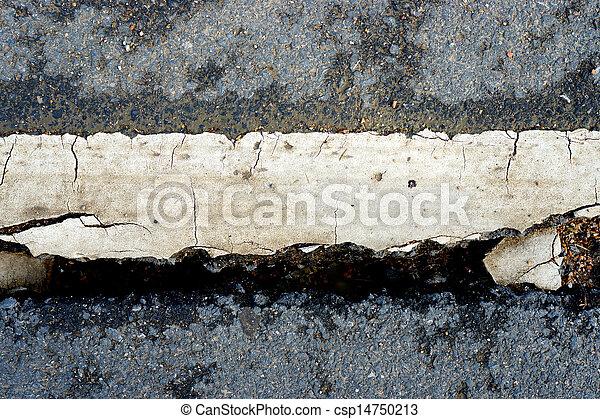 ある, 破壊された, 地すべり, 道 - csp14750213