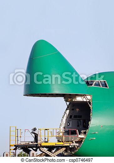ある, 荷を積まれる, boeing, 貨物 - csp0746497