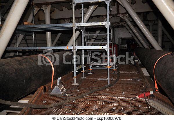 ある, constructed, 橋, 鋼鉄, 中 - csp16008978