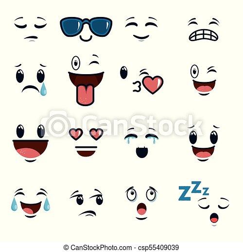 いたずら書き かわいい 顔 漫画 Emoji かわいい グラフィック