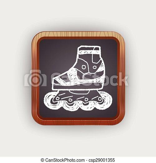 いたずら書き, スケート, ローラー - csp29001355