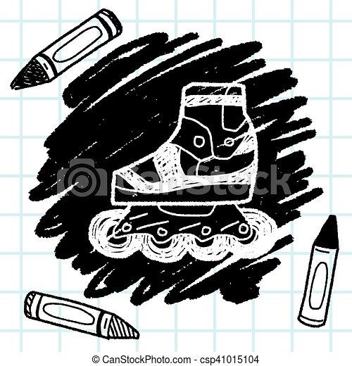 いたずら書き, スケート, ローラー - csp41015104