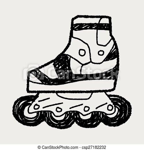 いたずら書き, スケート, ローラー - csp27182232