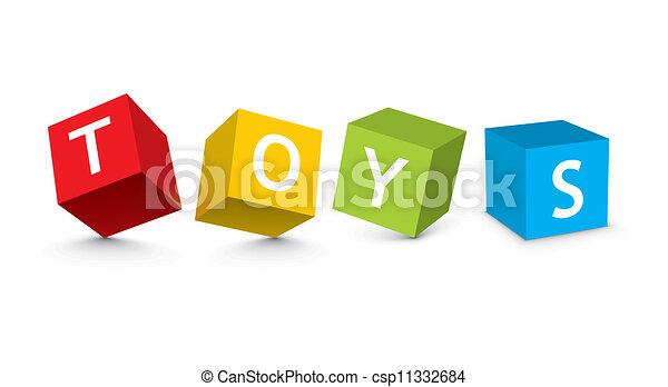 おもちゃのブロック, イラスト - csp11332684