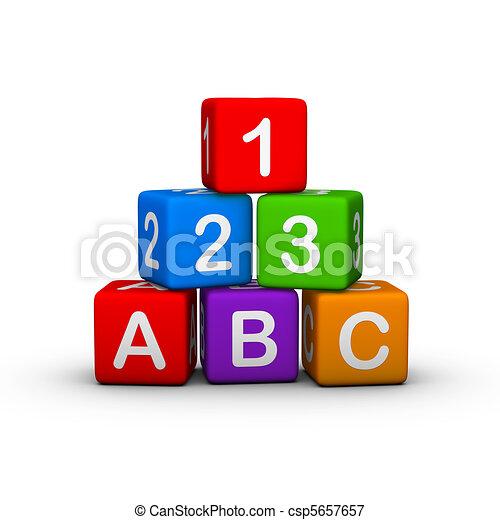 おもちゃのブロック - csp5657657