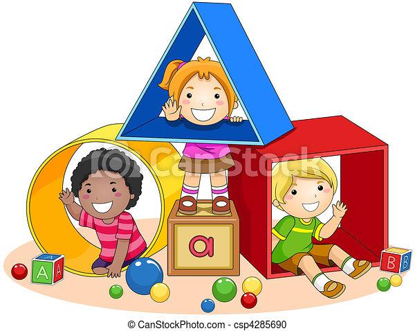 おもちゃのブロック - csp4285690