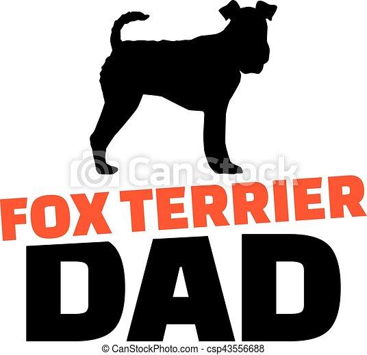 お父さん フォックステリア犬 シルエット 犬