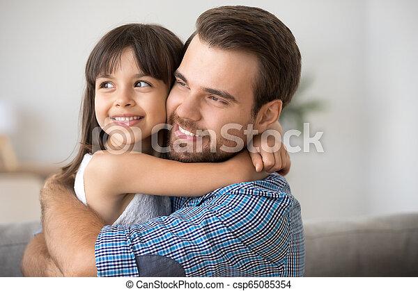 お父さん, 娘, fu, 有望, 単一, 見る, 明るい, 包含, 子供 - csp65085354