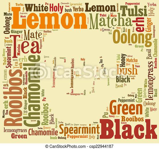お茶, 単語, 雲 - csp22944187