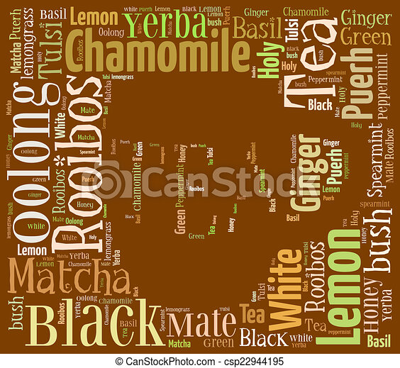 お茶, 単語, 雲 - csp22944195