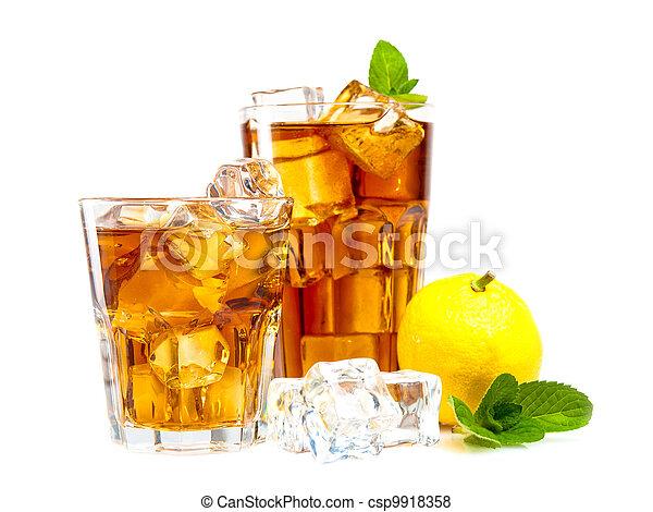 お茶, 氷 - csp9918358