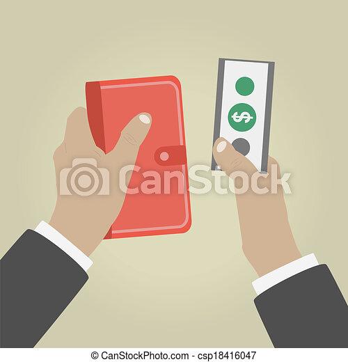 お金を与えること, 手 - csp18416047