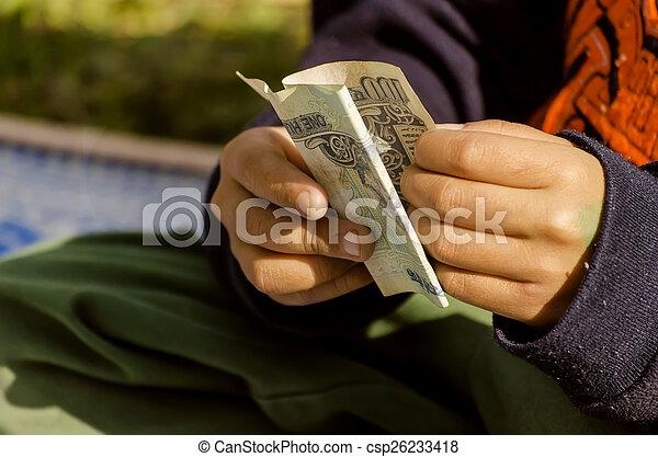 お金, 数える, 子供 - csp26233418