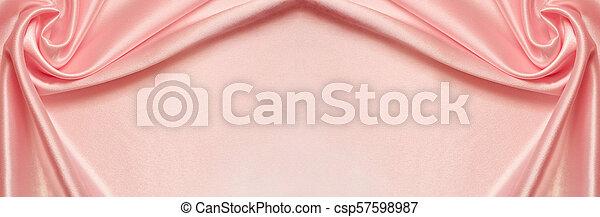 かけられた, ピンク, 絹, 背景 - csp57598987