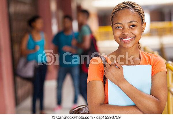 かなり, 大学, 女子学生, アフリカ - csp15398759