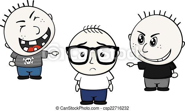 からかう, nerd, 子供 - csp22716232