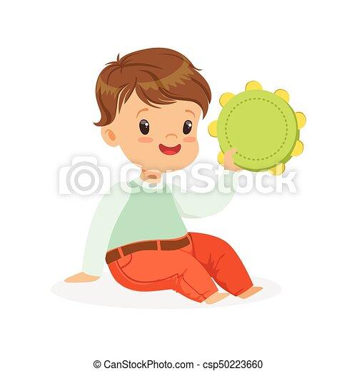 かわいい わずかしか おもちゃ 子供 男の子 音楽家 若い イラスト