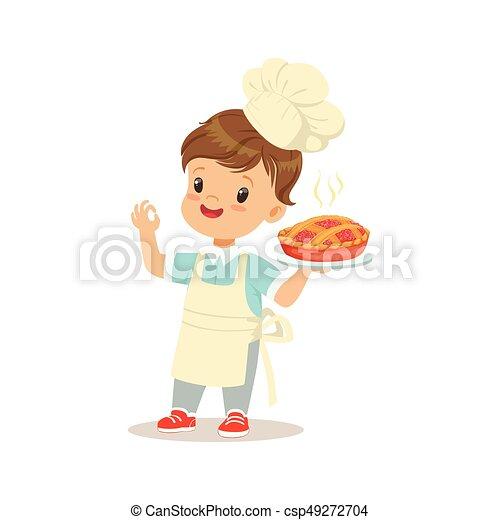 かわいい わずかしか 新たに 男の子 パイ イラスト 料理された