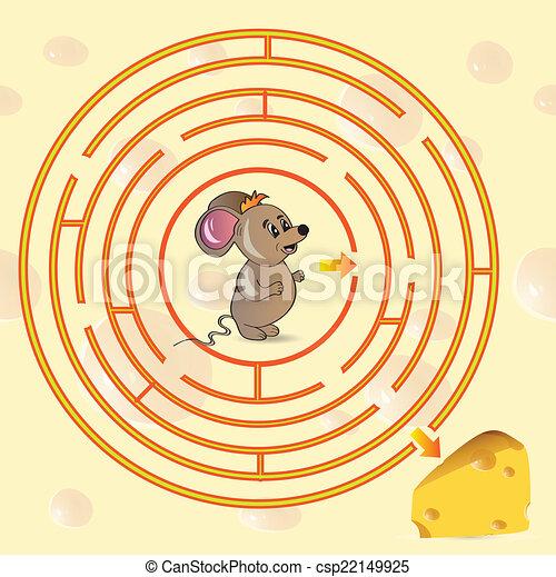 かわいい, ゲーム, 迷路, mouse's - csp22149925