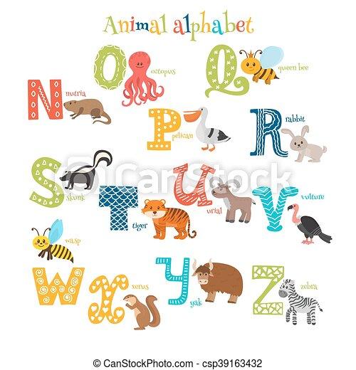 かわいい スタイル 動物 アルファベット Zoo N Z 漫画 かわいい