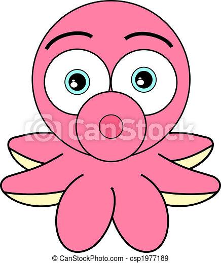 かわいい タコ ピンク かわいい イラスト 見る ベクトル タコ 漫画