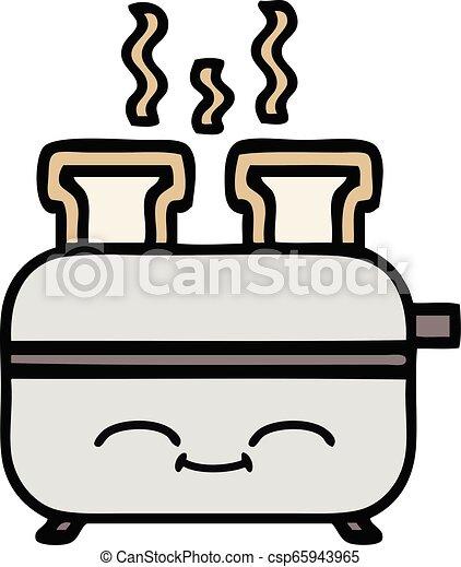 かわいい, トースター, 漫画 - csp65943965