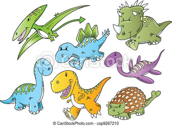 かわいい ベクトル 動物 恐竜