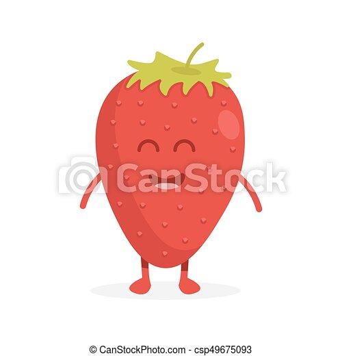 かわいい ベクトル 顔 イラスト いちご フルーツ 特徴 手 かわいい Illustration 顔 フルーツ いちご ベクトル 特徴 手