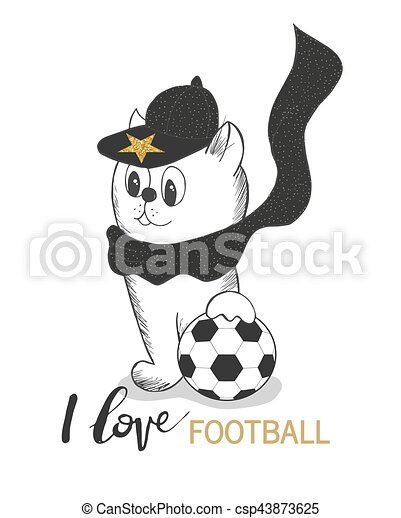 かわいい ボール帽子 隔離された イラスト ベクトル 背景 子ネコ