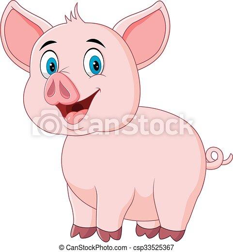 かわいい ポーズを取る 隔離された 豚 かわいい 隔離された