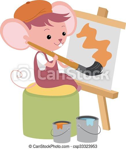 かわいい マウス 絵 かわいい 絵 イラスト 大きい ブラシ マウス