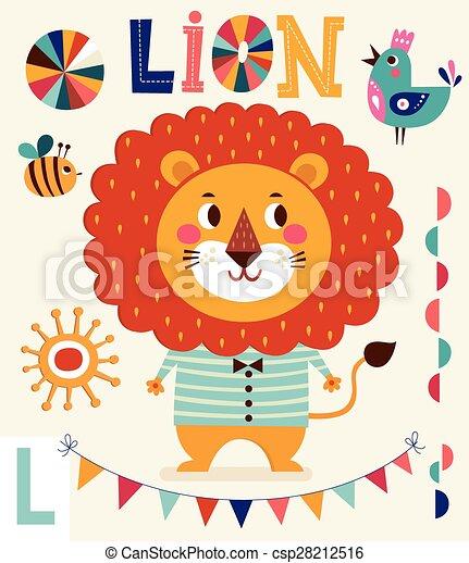 かわいい ライオン ベクトル イラスト かわいい 男の子 Lion