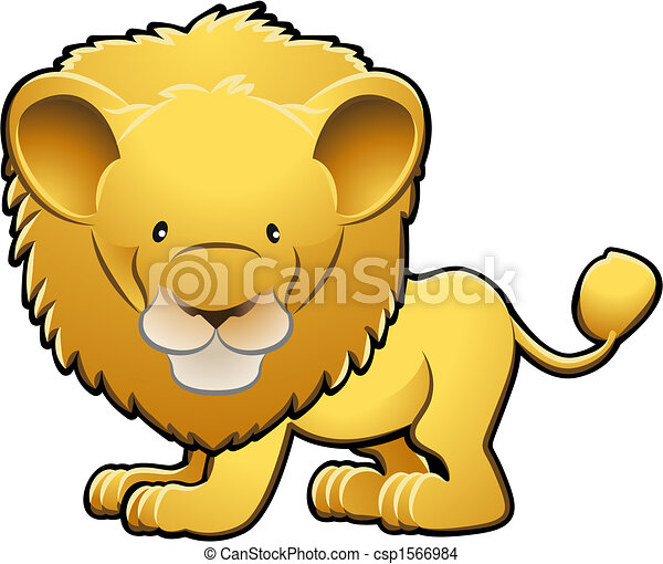 かわいい ライオン ベクトル イラスト