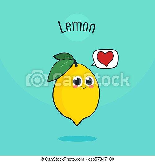 かわいい レモン Illustration 型 Character フルーツ ベクトル