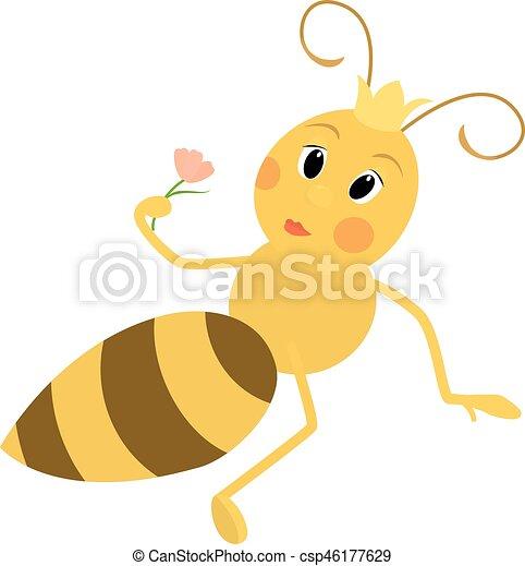 かわいい 女王 イラスト 蜂 女王 かわいい 花 イラスト 蜂
