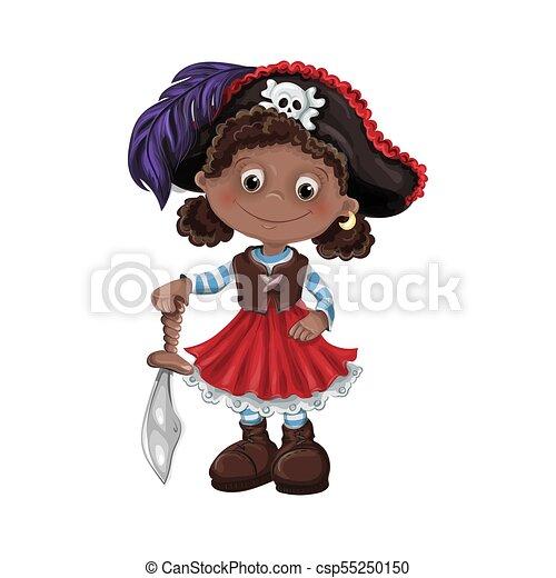 かわいい 女 ベクトル 海賊 イラスト Pirates かわいい 子供